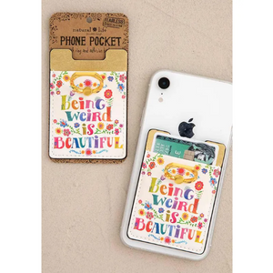 Being Weird is Beautiful Phone Pocket Ring
