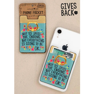 Everything Is Going to Be Ok Phone Pocket Ring