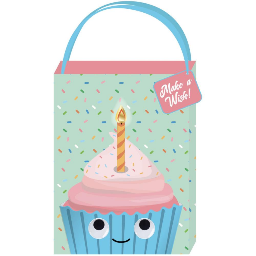 "Googly Cupcake ""Make a Wish"" Medium Gift Bag"