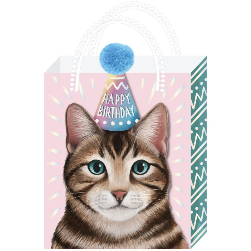 Party Cat Happy Birthday Medium Gift Bag