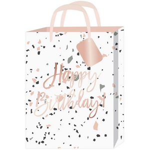 Rose Gold Foil Happy Birthday Medium Gift Bag