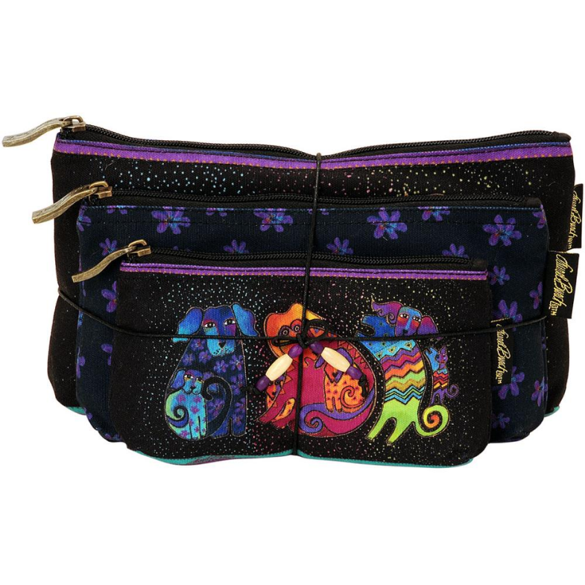 Dog & Doggies Cosmetic Bags Set by Laurel Burch
