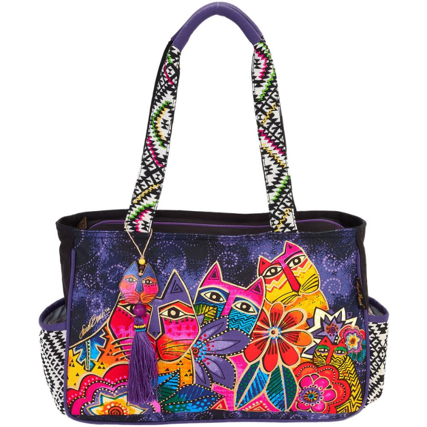 Fantasticats Medium Tote Bag by Laurel Burch