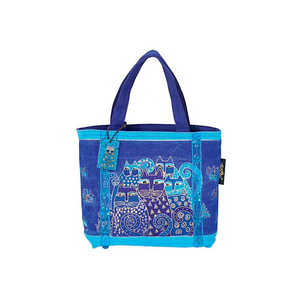 Indigo Cats Mini Bag by Laurel Burch