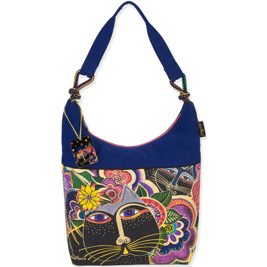 Carlotta's Cats Scoop Tote Bag by Laurel Burch
