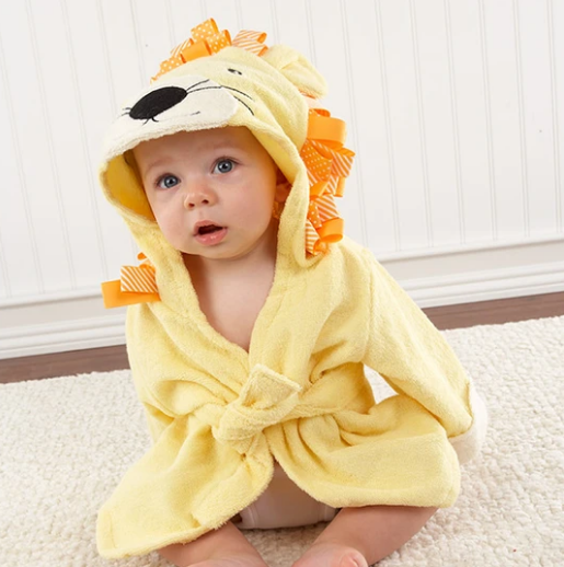 Lion Hooded Baby Bathrobe