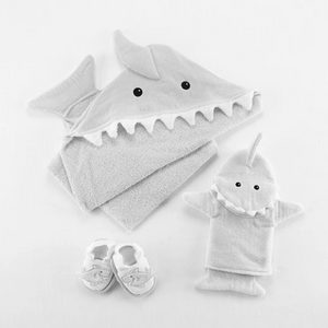 Let the Fin Begin Baby 4-Piece Gift Set Bundle