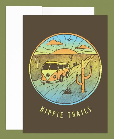 Hippie Trails Greeting Card