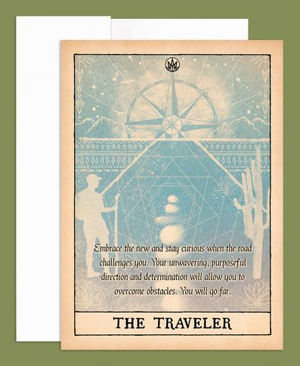 The Traveler Greeting Card