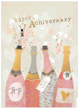 Champagne Wishes Anniversary Greeting Card