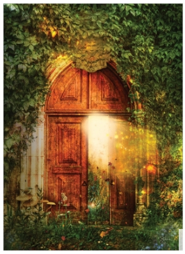 Mystical Magical Open Door Greeting Card (blank inside)