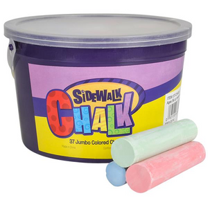 Jumbo Sidewalk Chalk in a Bucket