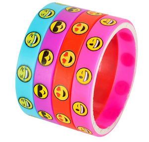 Emoticon Emoji Rubber Bracelets