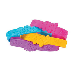 Superhero Sayings Rubber Bracelets