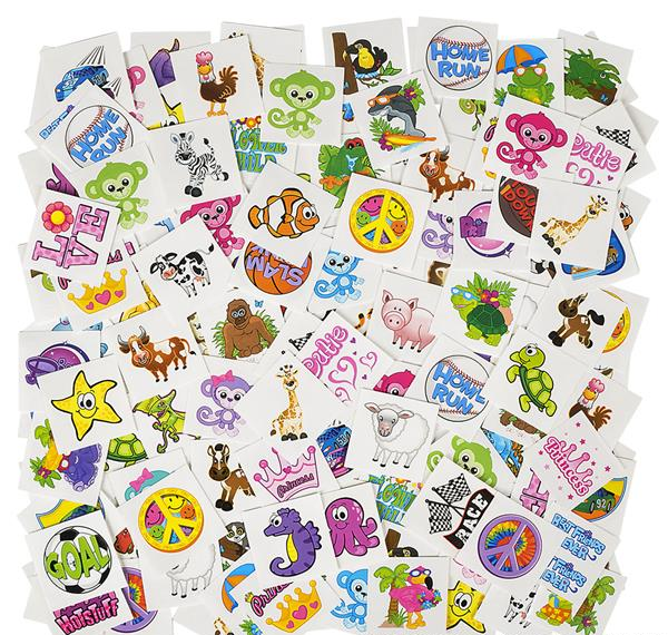 Free Bright and Fun Temporary Tattoos! (Free shipping)