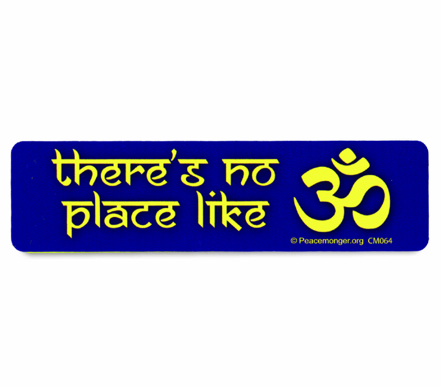 Free There's no place like OM Mini Sticker (free shipping)
