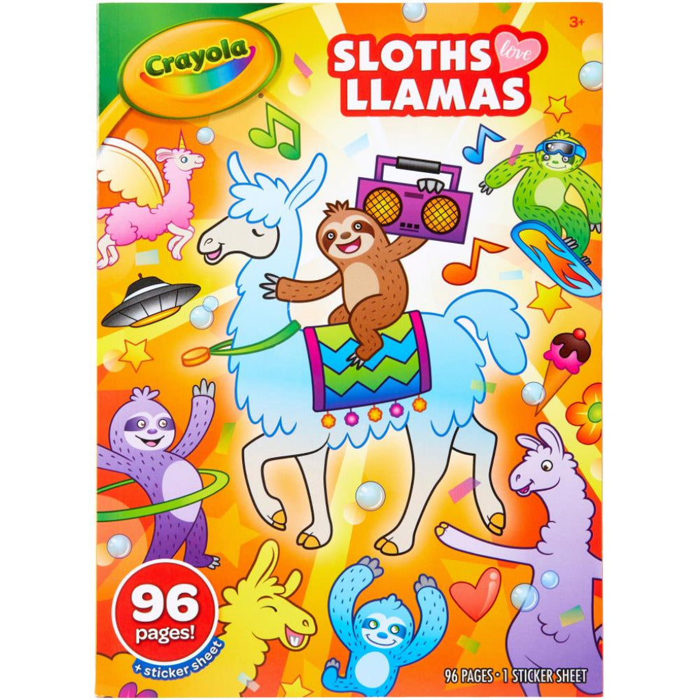 Sloths & Llamas Crayola Coloring Book