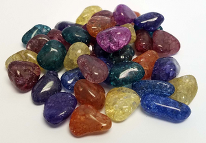 5 Sparkle Quartz Nature's Treasures Tumbled Crystals (+ shipping)