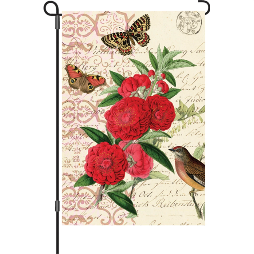 "Victorian Beauty 12"" Garden Flag"