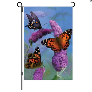 "Beautiful Butterflies 12"" Garden Flag"