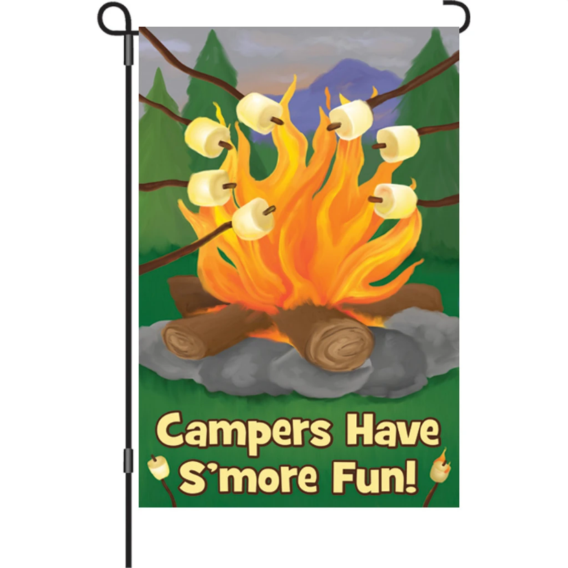 "Campers Have S'more Fun 12"" Garden Flag"