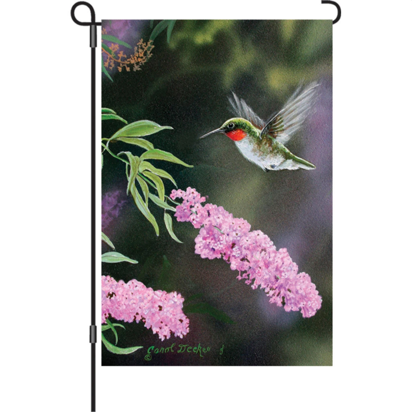 "Hummingbird Summer Joy 12"" Garden Flag"