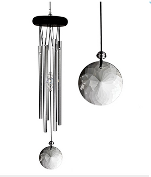 Crystal Silver Meditation Windchime