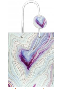 "Blue Agate Gift Bag (8.5"" x 10"" x 3.88"")"