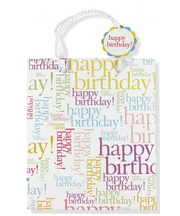 "Happy Birthday Gift Bag (8.5"" x 10"" x 3.88"")"