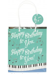 "Happy Birthday To you Musical Song Gift Bag (8.5"" x 10"" x 3.88"")"