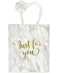 "Just for You Marble Gift Bag (8.5"" x 10"" x 3.88"")"