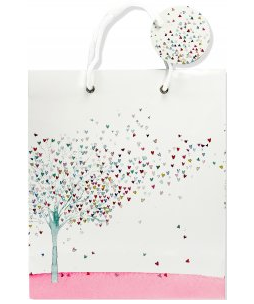 "Tree of Hearts Gift Bag (8.5"" x 10"" x 3.88"")"