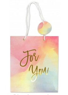 "For You Watercolor Sunset Gift Bag (8.5"" x 10"" x 3.88"")"