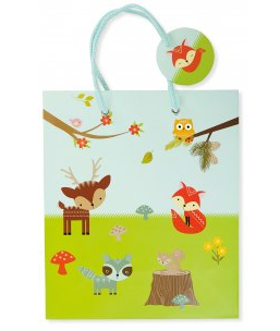 "Woodland Friends Gift Bag (8.5"" x 10"" x 3.88"")"