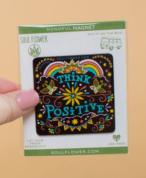 Think Positive Mindful Magnet