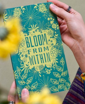 Bloom from Within Recycled Notebook