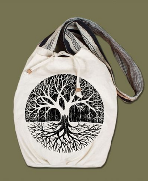 Tree of Life Canvas Boho Bag