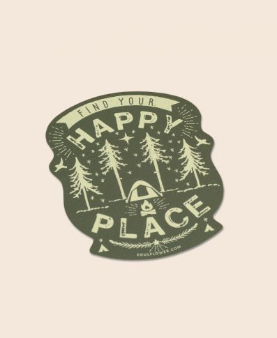 Happy Place Camping Sticker