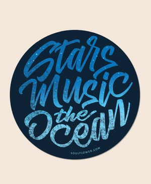 Stars, Music, the Ocean Sticker