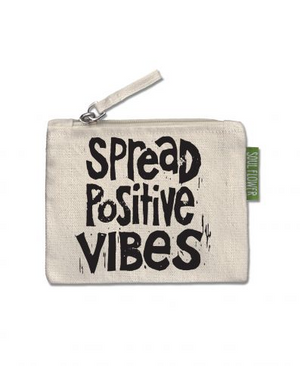 Soul Flower Manifesto Small Zipper Pouch