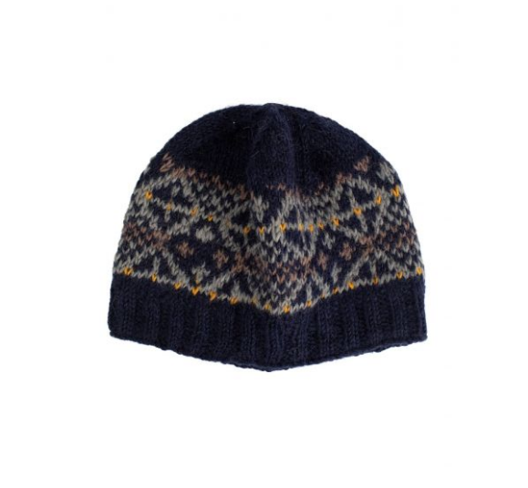 Stars & Snow Wool Hat Handcrafted in Nepal