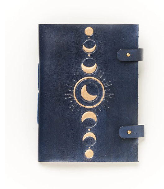 Crescent Moon Phases Lunar Indukala Journal Handcrafted in India