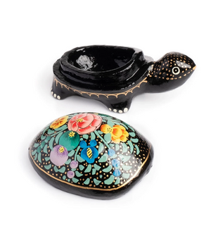 Paradise Handpainted Turtle Box Handcrafted in India ~ Assorted Colors