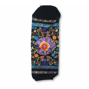 Large Flower Embroidered Hmong Yoga Mat Bag