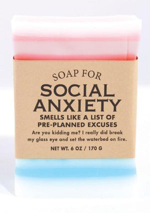 Soap for Social Anxiety ~ Smells Like a List of Pre-planned Excuses