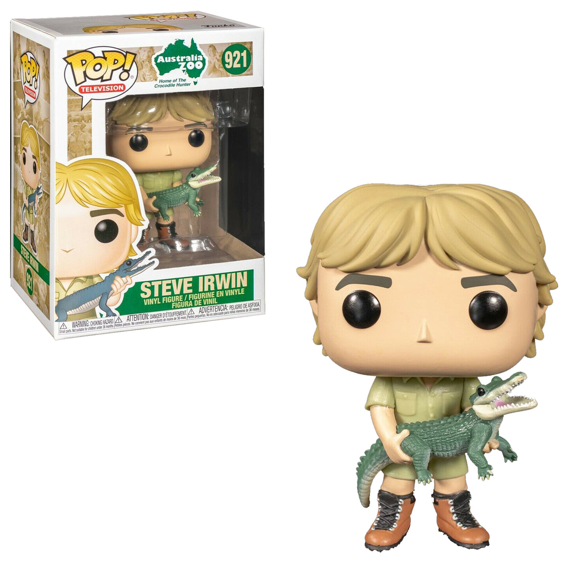 Funko Pop Vinyl Figurine Steve Irwin The Crocodile Hunter #921