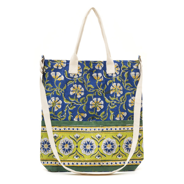 Kalini Multi-Purpose Tote - Indigo & Lime