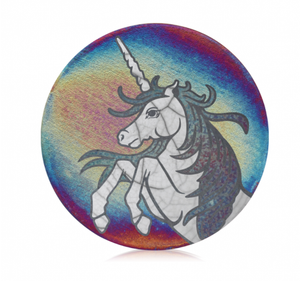 Unicorn Coasters Set from Raku Pottery