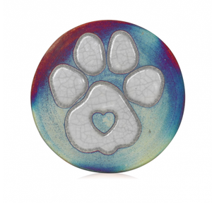 Paw Print Coasters Set from Raku Pottery
