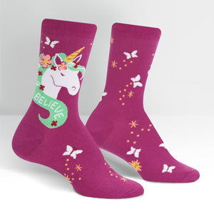 Believe in Magic Unicorn Women's Crew Socks